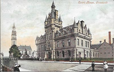 Old Postcard Of The Court House Greenock,Scotland ?