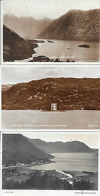 Old Postcards Of Scottish Lochs Including Rannoch