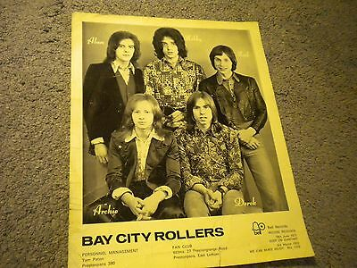 """Bay City Rollers 9"""" x 11"""" Bell Promo Photograph From 1972 Original Line Up"""