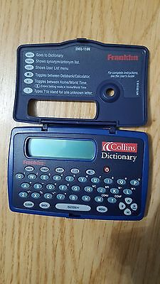 Franklin Collins Dictionary Electronic Edition - Spell-Checker and Thesaurus