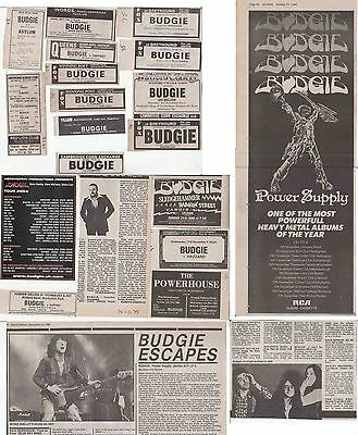 BUDGIE : CUTTINGS COLLECTION -adverts-