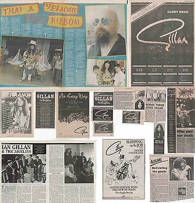 GILLAN : CUTTINGS COLLECTION -adverts interview- ian gillan