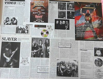 SLAYER : CUTTINGS COLLECTION -adverts interview-