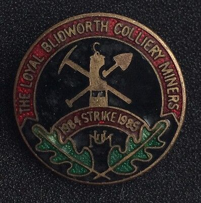 Mining Badge Blidworth Colliery 1984/85 Miners Strike Badge Num