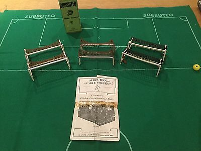 Subbuteo  Job Lot - 3 Sets Of Goals, Instructions And Pitch