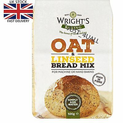2 x 500g Wright's Oat & Linseed Bread Mix