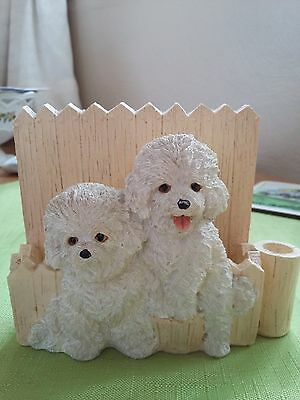 'Bichon Frise' Magnetic Pad and Pen Holder