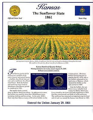 State Of Kansas Collectible With State Quarters Stamps And Lots More