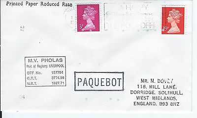 Hull Paquebot Cover