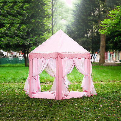 Gauze Hexagonal Princess Castle Tent Children Kids Game Tent House Toy Playhouse