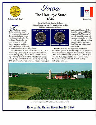 State Of Iowa Collectible With State Quarters Stamps And Lots More