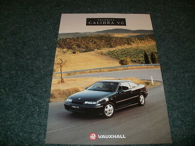 Vauxhall Calibra V6 2.5 24valve 1993 UK Sales Brochure