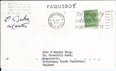 Portsmouth Paquebot Cover