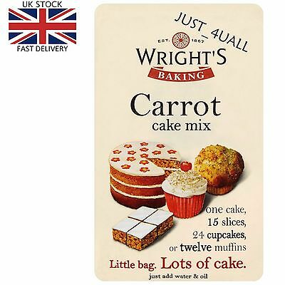 3 x 500g Wright's Carrot Cake Mix