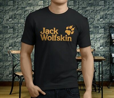 New Popular Jack Wolfskin Men's Black T-Shirt S-3XL