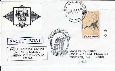 Port Chalmers Paquebot Cover