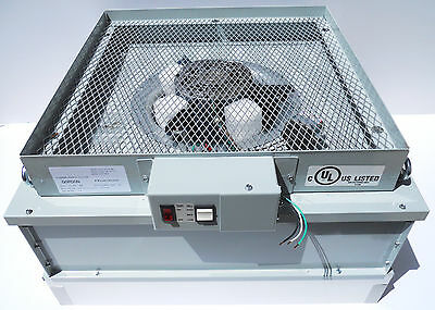 Clean Room Fan Assembly with 99.9995 Efficiency Filter & 3-Speed Motor@277 Volts