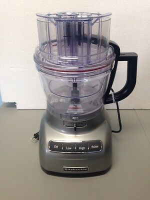 Kitchen Aid KFP1333CU0 13-cup Food Processor- Contour Silver READ/SEE PHOTOS