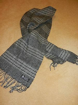 Scarf 100% pure new wool  - grey plaid - Christensen
