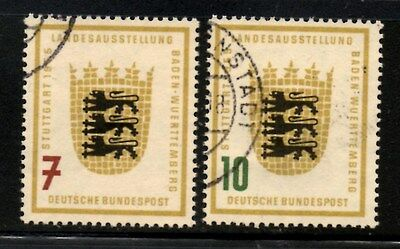 Germany 1955 Baden-Wurttemberg Agricultural Exhibition SG.1138/1139 Used Cat:£15