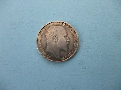 1903 Silver  Edward V11  Six Pence .only Light Use Collectable 2.8 Grams