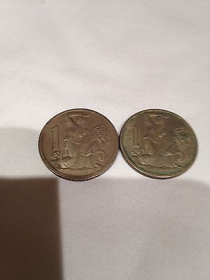 Joblot of 2 x Czechoslovakian coins  - see all pictures!