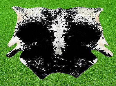"""New Cowhide Rugs Area Cow Skin Leather ( 52"""" x 48"""") Bull Skin Cow hide SA-8970"""