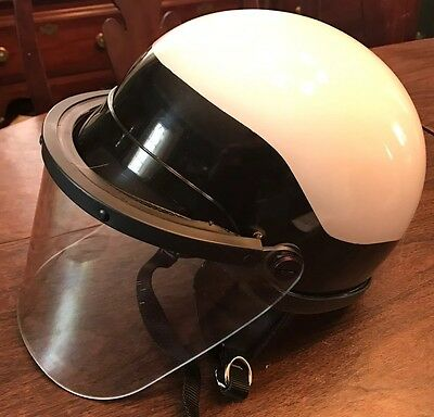 NEW Premier Crown C-4 600 Polycarbonate Riot Helmet With Face Shield White OSFA