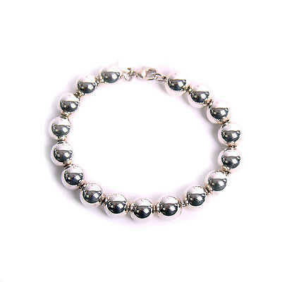 Tiffany & Co. Graduated Silver Bead Necklace and Silver Bead Bracelet