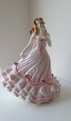 """SUPERB ROYAL WORCESTER FIGURINE - """"MAY BALL"""" From The GLITTERING OCCASIONS"""