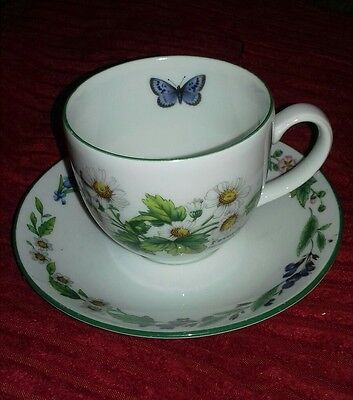 Royal Worcester Worcester Herbs Tea Cup and Saucer, Thyme and Feverfew