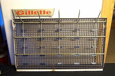1960s Gillette Razors Shaving Advertising Metal Barber Store Display