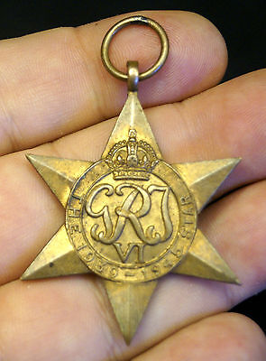 1940s WW2 British Great Britain Army Military GRJ Bronze Star Medal Award