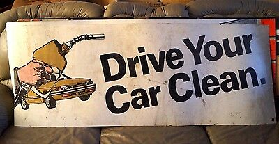Vintage 1980s Amoco Children's Network Gas Oil Advertising Sign 2' X 5'