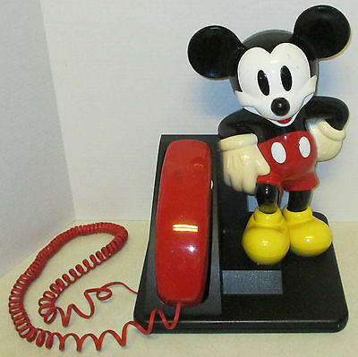 Vintage 1990's Disney Mickey Mouse At&t Telephone Touch Tone Push Button Phone