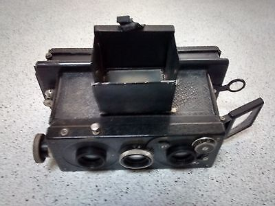 Ancient Collectable Voiglander Stereo Plate Camera with case & plate loader