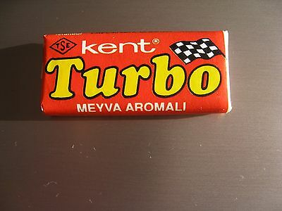 Unopened  Vintage Bubble Gum  TURBO 121-190  wrappers   RED   Very  rare  !