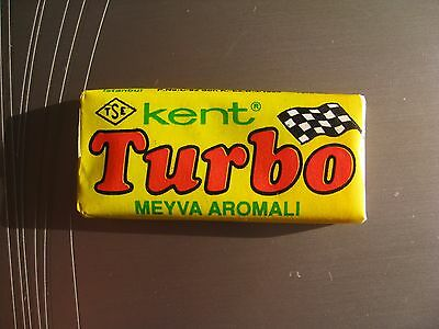 Unopened  Vintage Bubble Gum  TURBO 121-190  wrappers  Yellow   Very  rare  !