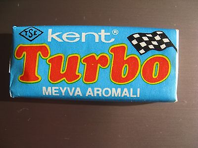 Unopened  Vintage Bubble Gum  TURBO 121-190  wrappers   BLUE   Very  rare  !