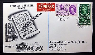 GB 1960 G.L.O. (2) on Express FDC with Lombard CDS FP9343