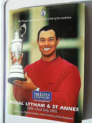 2001 Open Golf Championship Programme Royal Lytham Tiger Mickelson Saab 9-5 Love