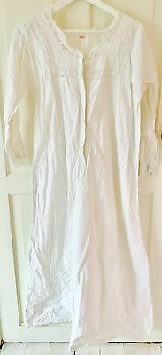 Antique Vintage Night Gown Linen with Pretty Trimmings