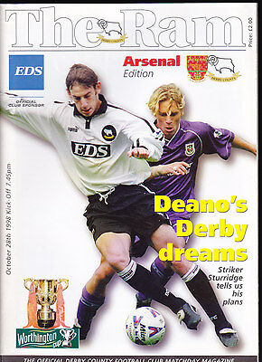 1998/99 DERBY COUNTY V ARSENAL 28-10-1998 League Cup