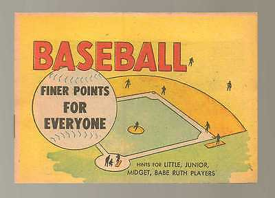 Baseball Finer Points For Everyone NM 1957  Babe Ruth Comic Book N