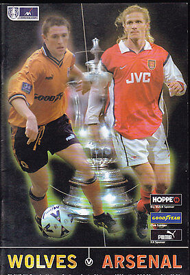 1998/99 WOLVERHAMPTON WANDERERS V ARSENAL 24-01-1999 FA Cup 4th Round