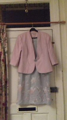 jacques vert size 18 dress mother of bride wedding party * matching jacket also