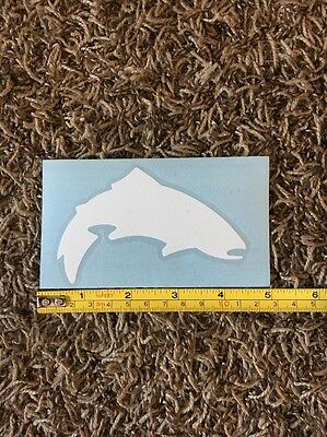 Simms Fly Fishing Sticker Decal White Trout Approx 5""