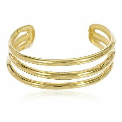 Real 10k Yellow Gold Three Wire Toe Ring