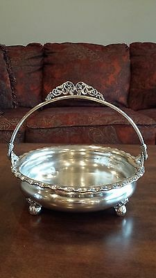 Victorian Silverplate Bridal Basket made by Adelphi