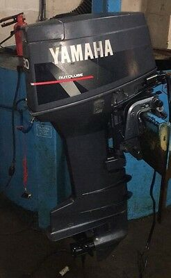 1999 Yamaha 30HP Electric Start Long Shaft Outboard Boat Engine & Remotes